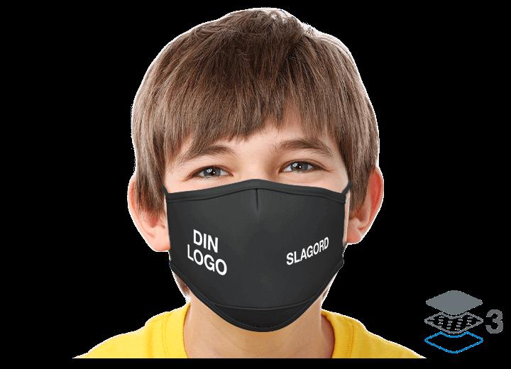 Junior - Skreddersydde gjenbrukbare tøymunnbind
