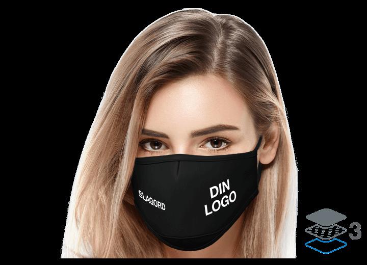Sky - Beskyttende tøymunnbind med logo