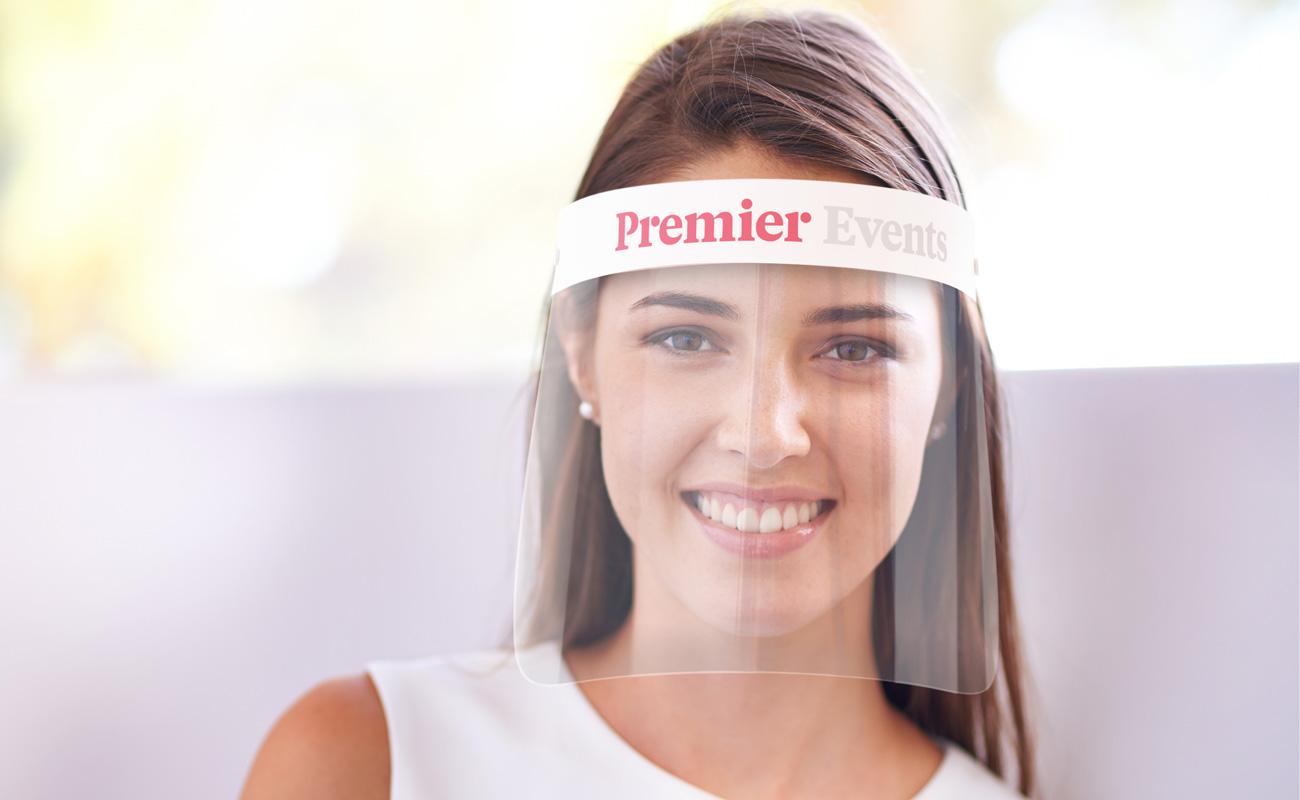 Barrier - Ansiktsskjermer med logo