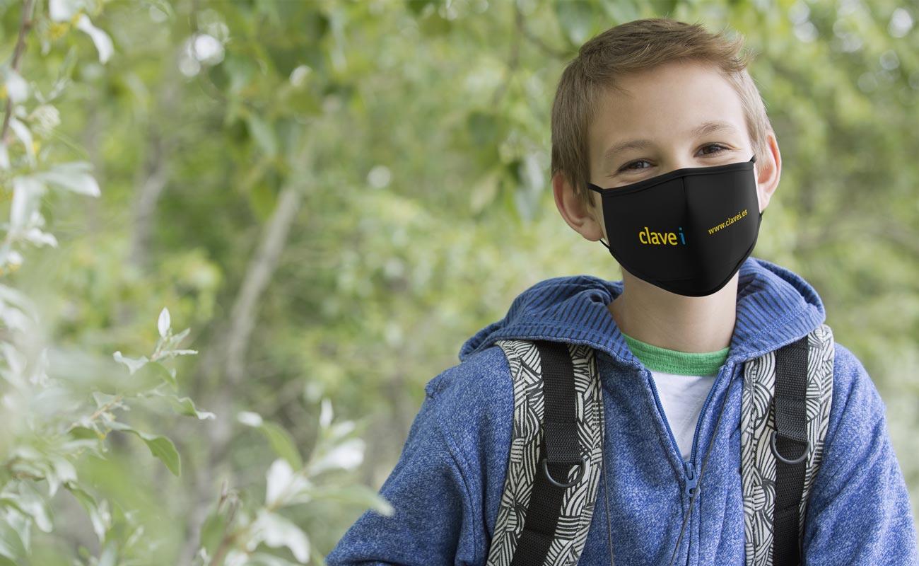 Junior - Beskyttende tøymunnbind med logo