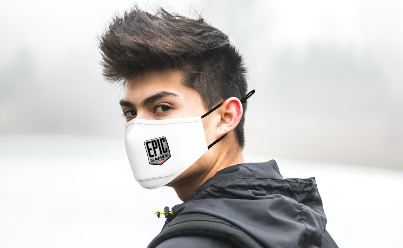Junior - Ansiktsmaske med logo